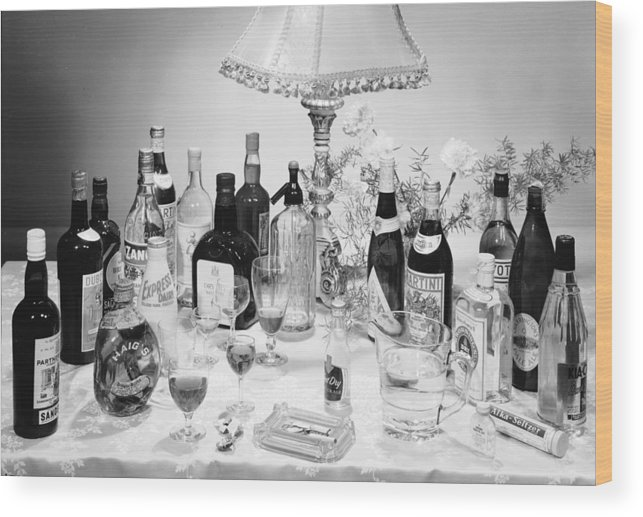 Milk Wood Print featuring the photograph Christmas Drinks by Chaloner Woods