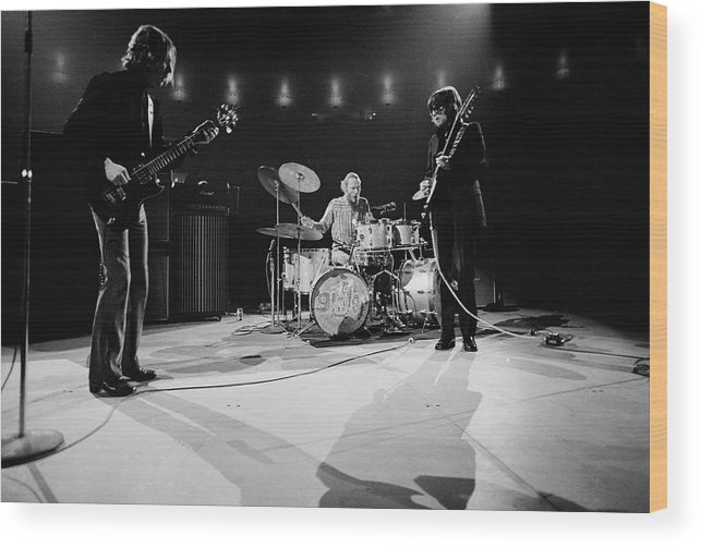 Music Wood Print featuring the photograph Cream At Madison Square Garden by Michael Ochs Archives