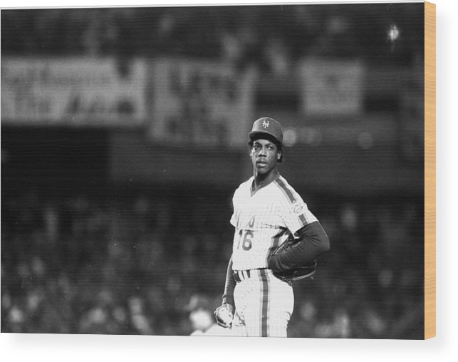 Dwight Gooden Wood Print featuring the photograph Dwight Goodens First World Series Game by New York Daily News Archive
