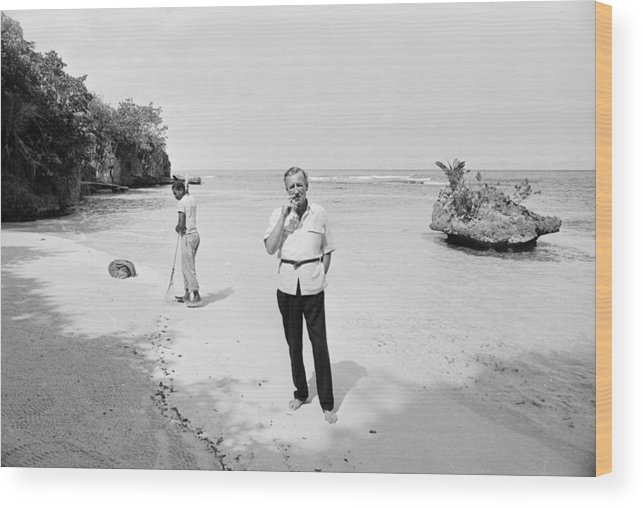 Ian Fleming Wood Print featuring the photograph Fleming In Jamaica by Harry Benson