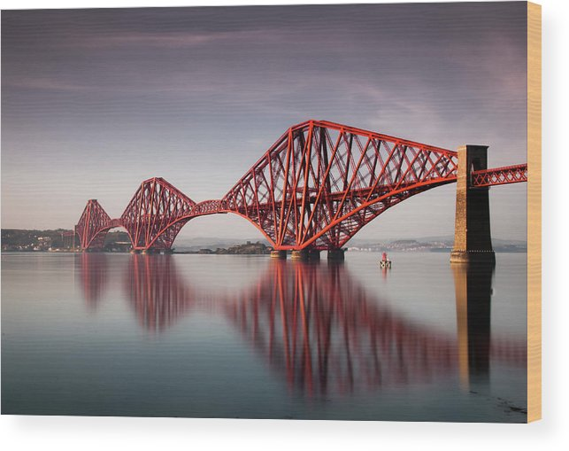 Built Structure Wood Print featuring the photograph Forth Rail Bridge by Jon Wild