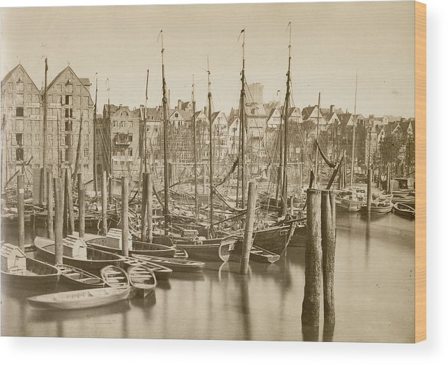 1880-1889 Wood Print featuring the photograph German Harbour by Hulton Archive
