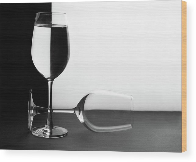 Alcohol Wood Print featuring the photograph Glasses by Photo By Bhaskar Dutta