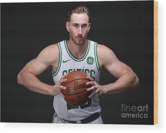 Nba Pro Basketball Wood Print featuring the photograph Gordon Hayward Boston Celtics Portraits by Brian Babineau