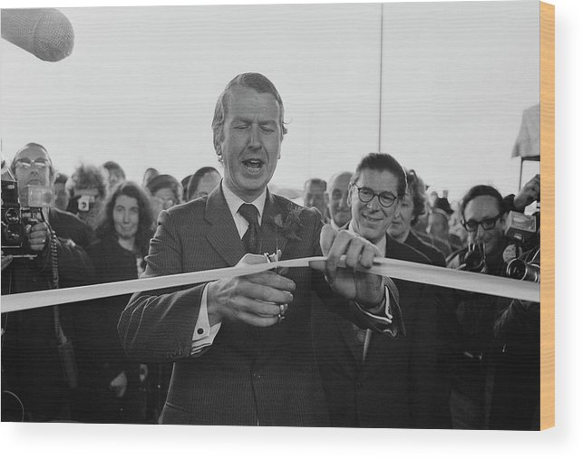 People Wood Print featuring the photograph Gravelly Hill Interchange Opening by R. Viner
