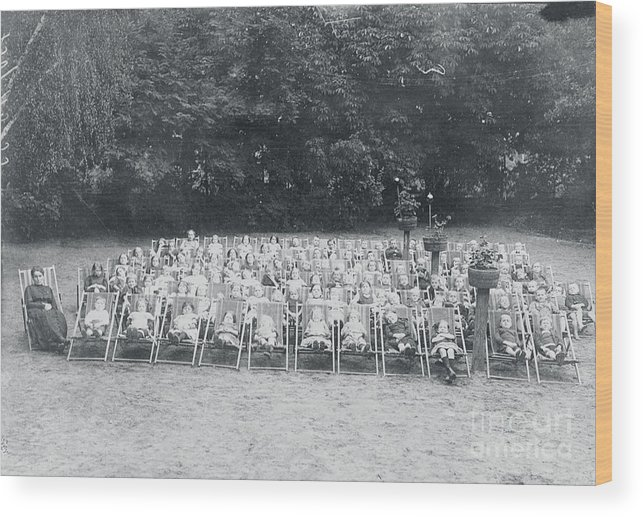People Wood Print featuring the photograph Ill Children Resting At Camp by Bettmann