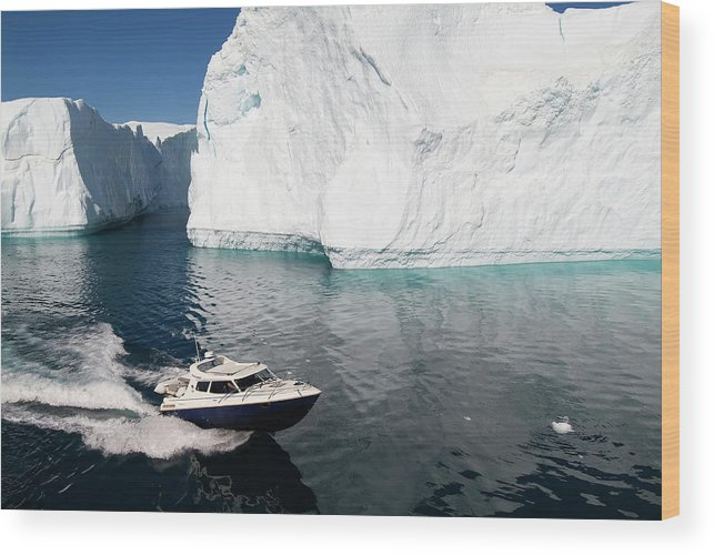 Scenics Wood Print featuring the photograph Ilulissat, Disko Bay by Gabrielle Therin-weise