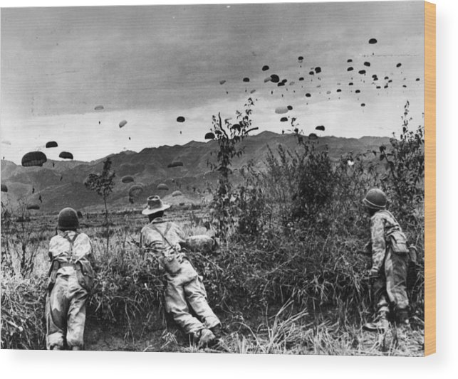 Parachuting Wood Print featuring the photograph Indo China by Keystone