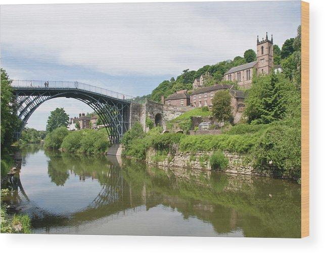Arch Wood Print featuring the photograph Ironbridge In Telford by Dageldog