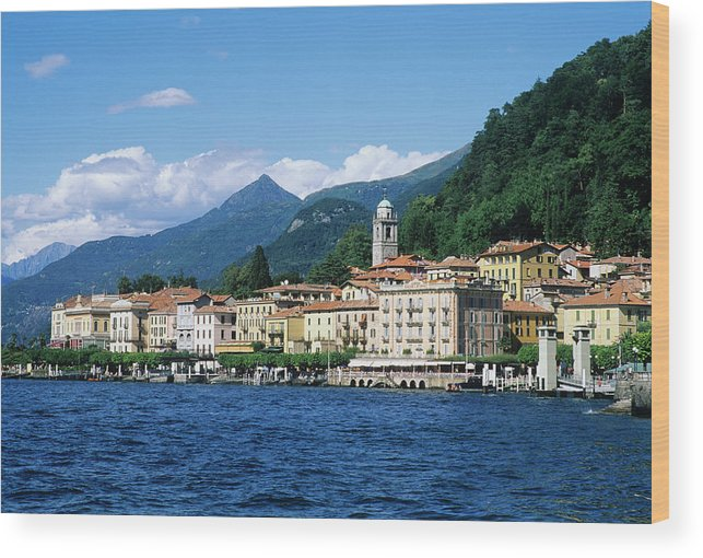 Scenics Wood Print featuring the photograph Italy, Lombardy, Bellagio by Vincenzo Lombardo