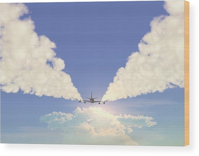 Engine Wood Print featuring the photograph Jet by Pobytov