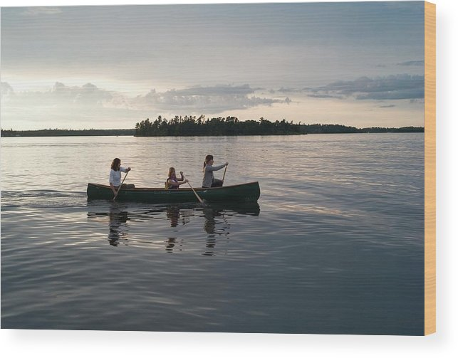 Tranquility Wood Print featuring the photograph Lake Of The Woods, Ontario, Canada by Design Pics/keith Levit