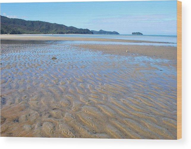 Scenics Wood Print featuring the photograph Marahau Beach, The Abel Tasman National by Lazingbee
