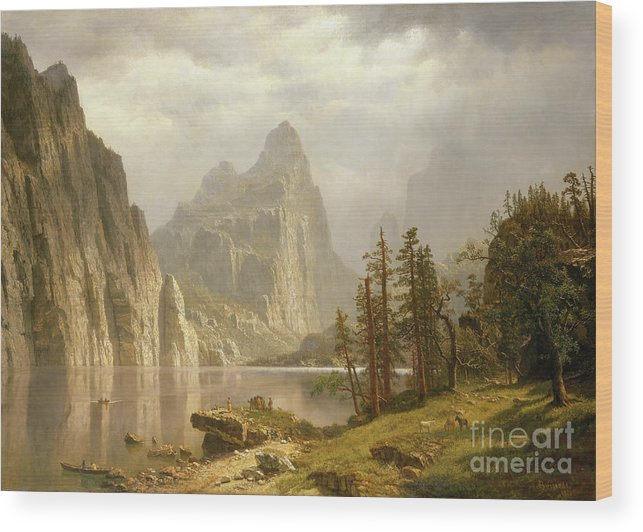 Oil Painting Wood Print featuring the drawing Merced River by Heritage Images