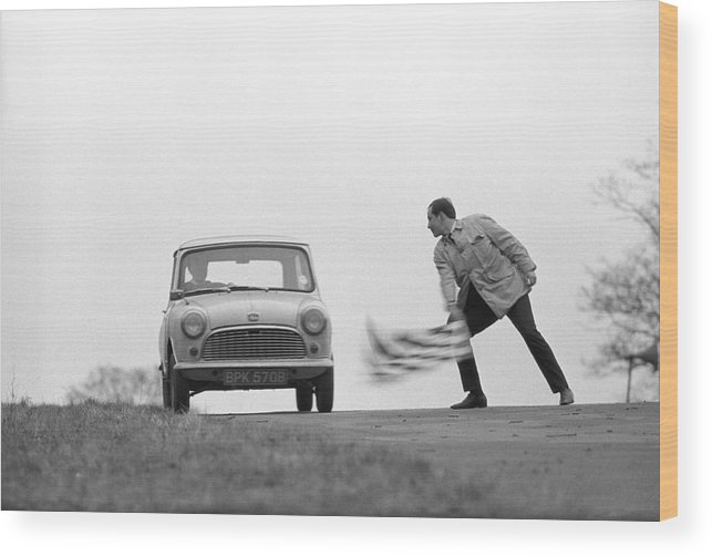 People Wood Print featuring the photograph Mini Rally by Bert Hardy Advertising Archive