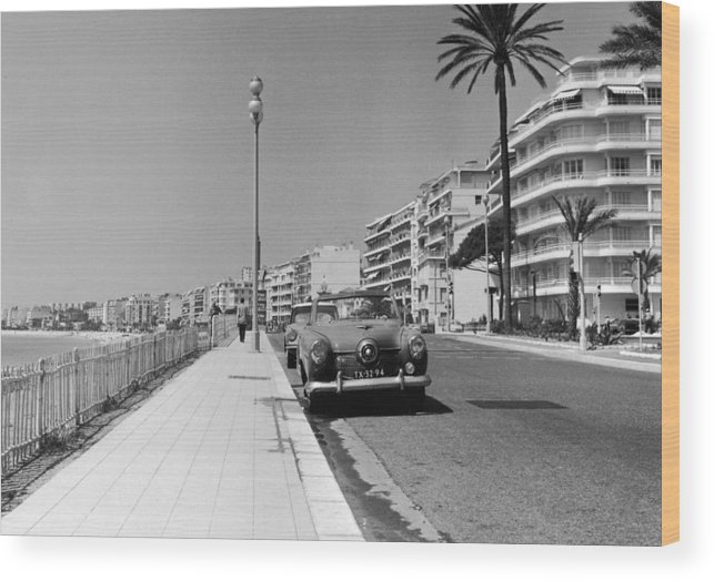 Scenics Wood Print featuring the photograph Nice Seafront by Fpg