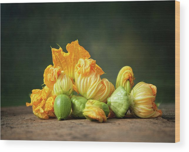 Healthy Eating Wood Print featuring the photograph Patty Pans by Jojo1 Photography