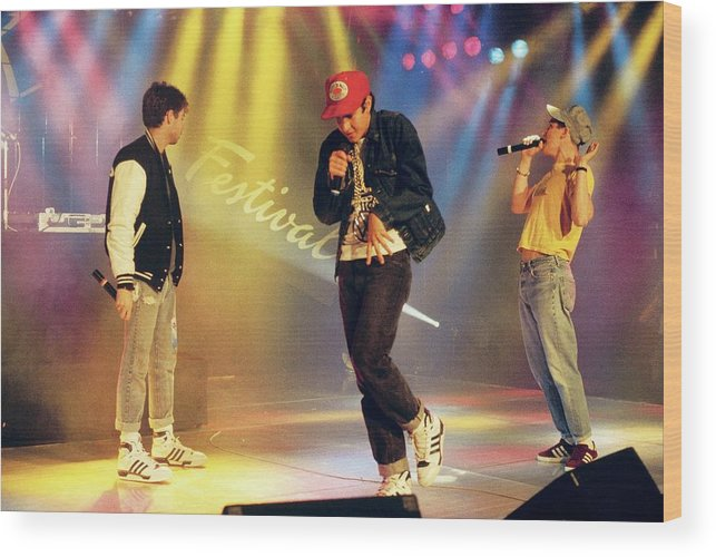 1980-1989 Wood Print featuring the photograph Photo Of Beastie Boys by David Redfern