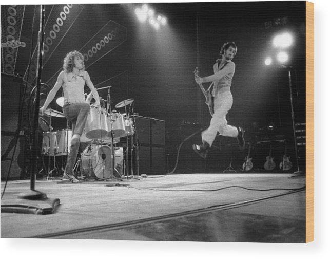 Music Wood Print featuring the photograph Photo Of Pete Townshend And Roger by David Redfern