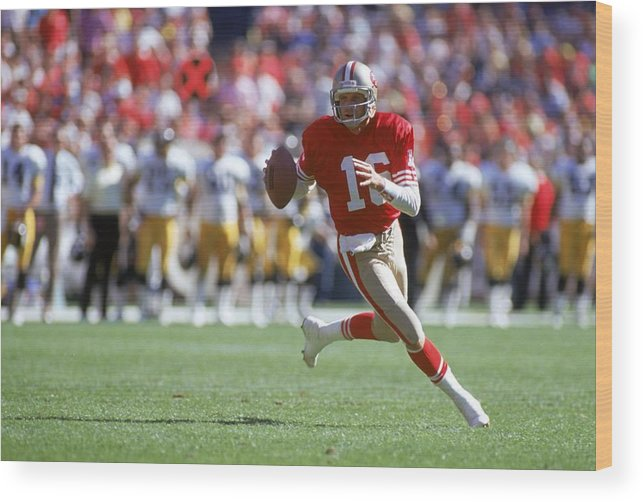 Candlestick Park Wood Print featuring the photograph Pittsburgh Steelers V San Francisco by George Rose