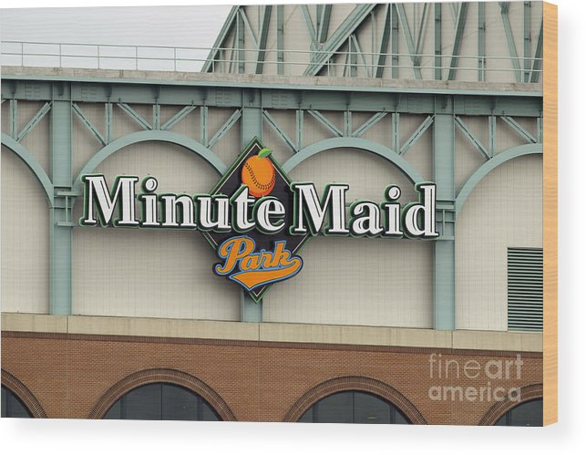 Minute Maid Park Wood Print featuring the photograph Rockies V Astros by Ronald Martinez