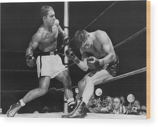 People Wood Print featuring the photograph Rocky Marciano by Keystone