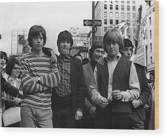 Rock Music Wood Print featuring the photograph Rolling Stones by William Lovelace