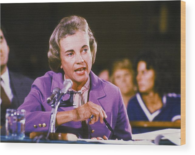 1980-1989 Wood Print featuring the photograph Sandra Day Oconnor by Keystone