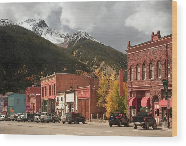 San Juan Mountains Wood Print featuring the photograph Silverton, Colorado by Missing35mm