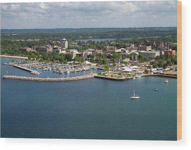 Lake Michigan Wood Print featuring the photograph Traverse City, Michigan by Ct757fan
