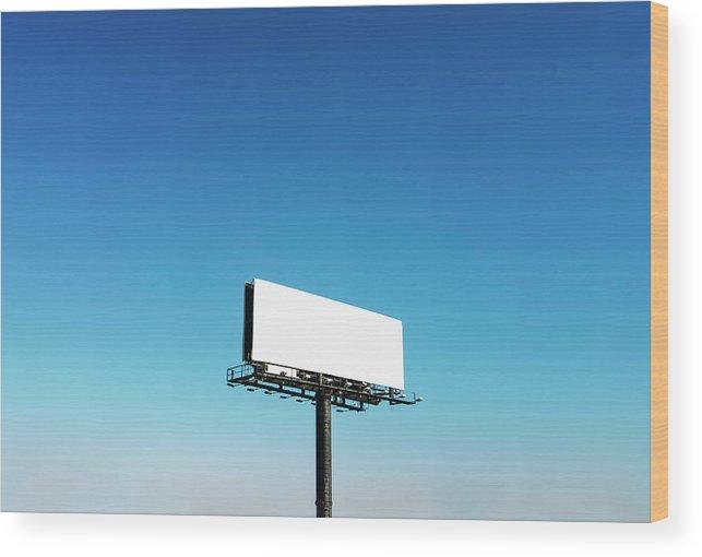 North Carolina Wood Print featuring the photograph Usa, North Carolina, Billboard Under by Tetra Images