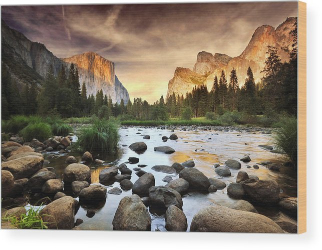 Scenics Wood Print featuring the photograph Valley Of Gods by John B. Mueller Photography