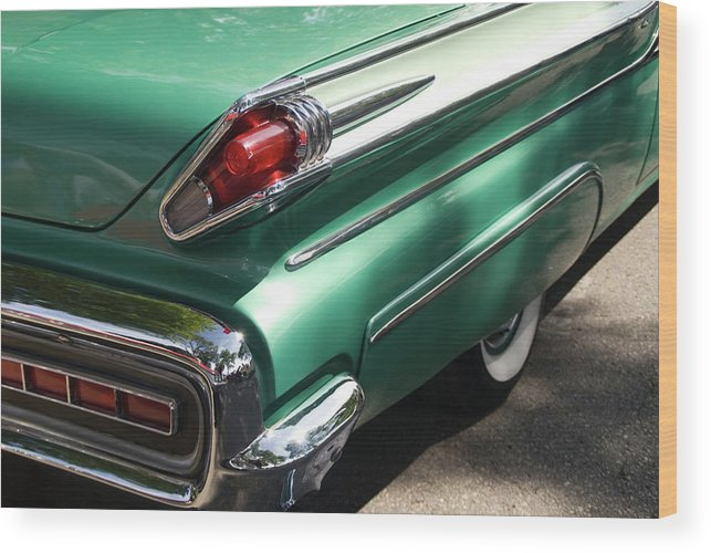 Cool Attitude Wood Print featuring the photograph Vintage Tail Fin by Sstop