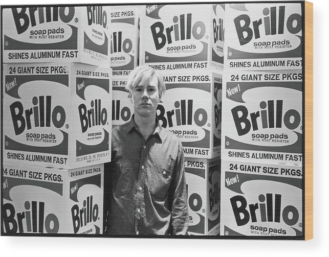 Artist Wood Print featuring the photograph Warhol & Brillo Boxes At Stable Gallery by Fred W. McDarrah