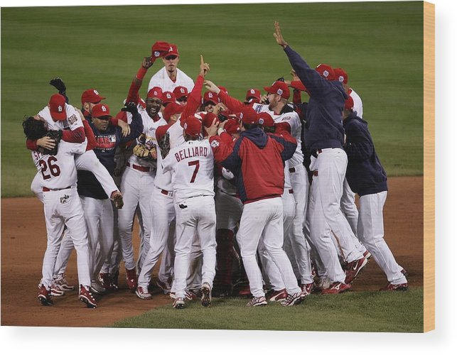 St. Louis Cardinals Wood Print featuring the photograph World Series Game 5 Detroit Tigers V by Elsa