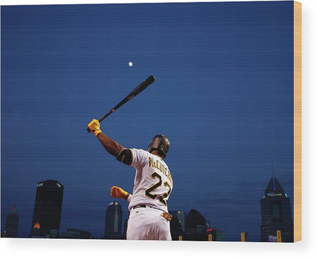 Andrew Mccutchen Wood Print featuring the photograph Andrew Mccutchen by Justin K. Aller