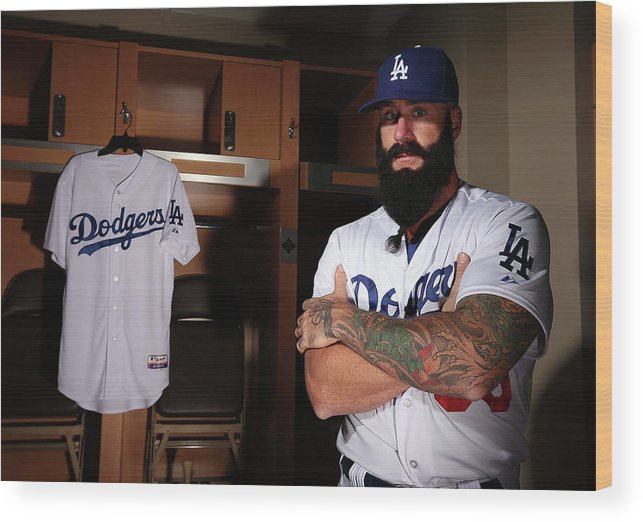 Media Day Wood Print featuring the photograph Brian Wilson by Christian Petersen