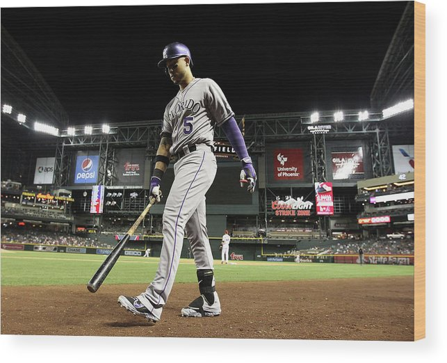 Home Base Wood Print featuring the photograph Carlos Gonzalez by Christian Petersen