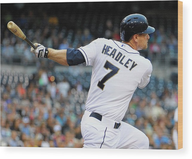 California Wood Print featuring the photograph Chase Headley by Denis Poroy