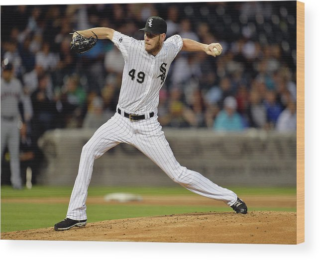 Second Inning Wood Print featuring the photograph Chris Sale by Brian Kersey