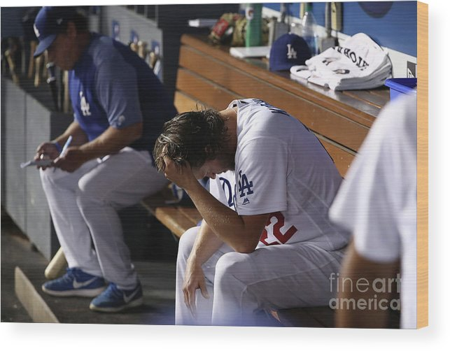 People Wood Print featuring the photograph Clayton Kershaw by Victor Decolongon