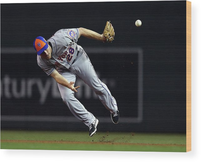 American League Baseball Wood Print featuring the photograph Daniel Murphy by Elsa