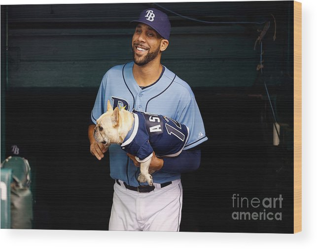 David Price Wood Print featuring the photograph David Price by J. Meric