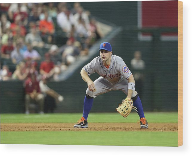 Motion Wood Print featuring the photograph David Wright by Christian Petersen