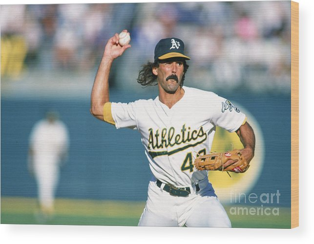 1980-1989 Wood Print featuring the photograph Dennis Eckersley by Ron Vesely