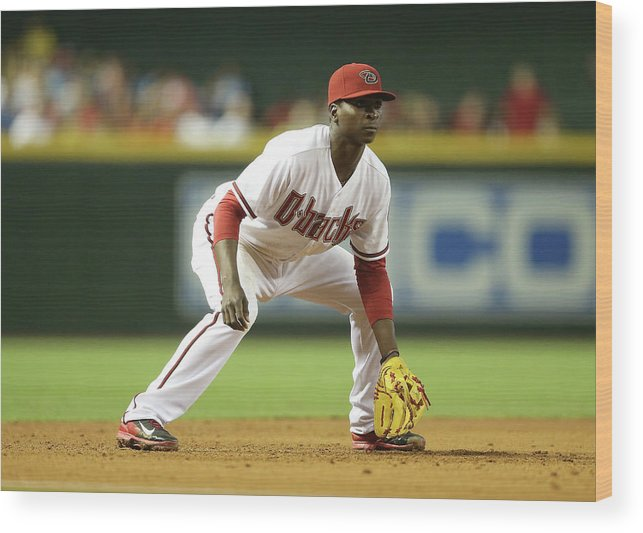 Motion Wood Print featuring the photograph Didi Gregorius by Christian Petersen