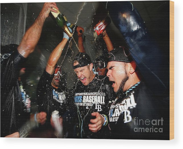 Following Wood Print featuring the photograph Evan Longoria by Jared Wickerham