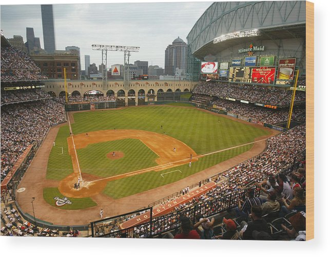 Opening Ceremony Wood Print featuring the photograph Florida Marlins v Houston Astros by Bill Baptist