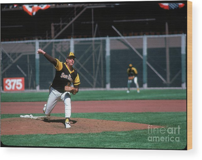 Baseball Pitcher Wood Print featuring the photograph Gaylord Perry by Michael Zagaris