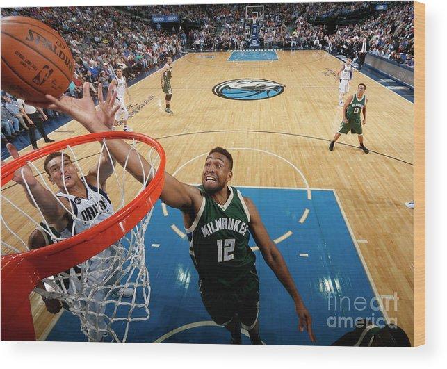 Nba Pro Basketball Wood Print featuring the photograph Jabari Parker by Glenn James
